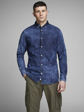 WASHED STYLE DENIM SHIRT