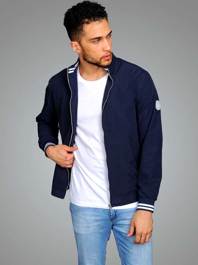 BOMBER JACKET WITH STAND-UP COLLAR Total Eclipse