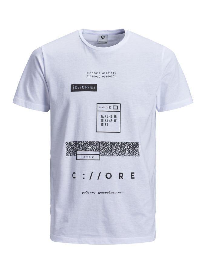 NUMERIC PRINT CORE T-SHIRT White