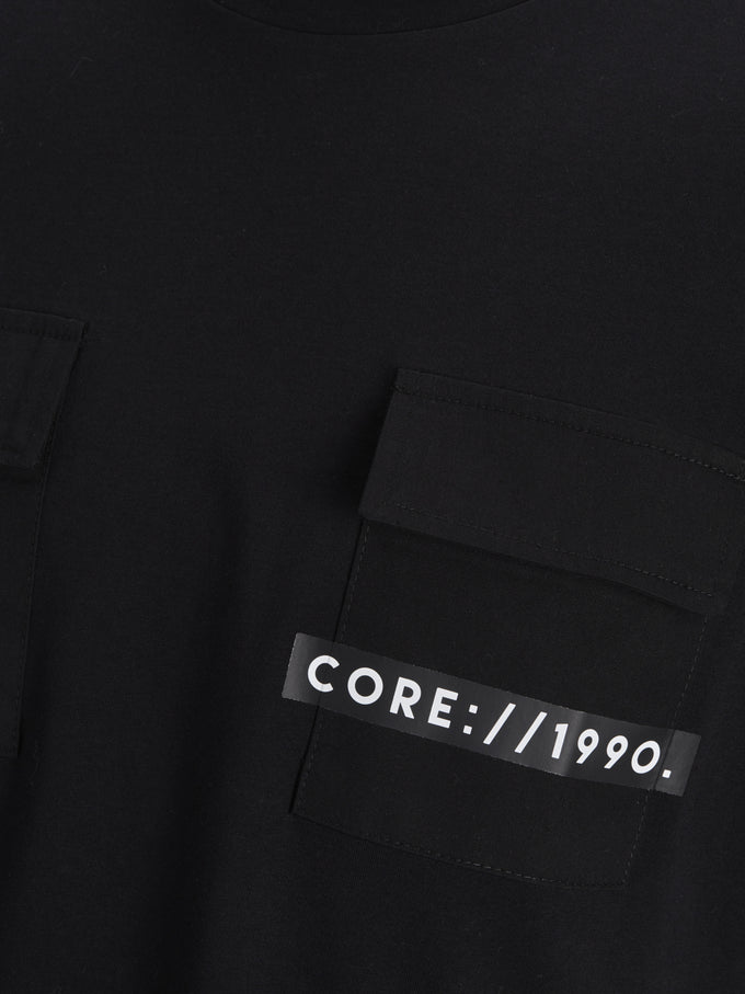 POCKET DETAIL CORE T-SHIRT Black