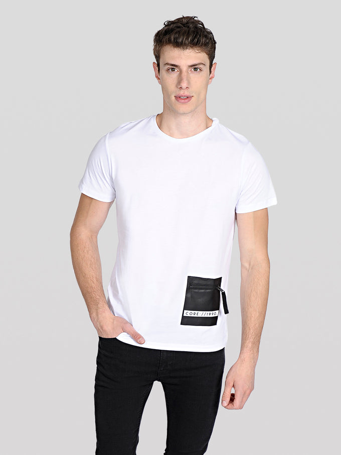 POCKET DETAIL CORE T-SHIRT White