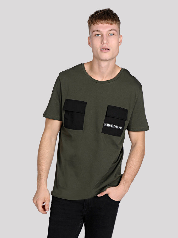 POCKET DETAIL CORE T-SHIRT Rosin