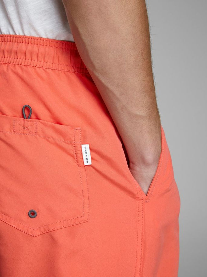 COLOURFUL SWIM SHORTS Hot Coral