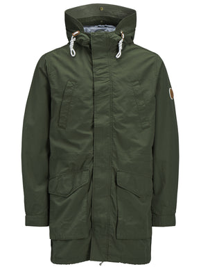 SPRING PARKA WITH CAMO LINING