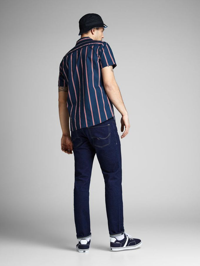 VERTICAL STRIPE SHORT SLEEVE SHIRT Total Eclipse