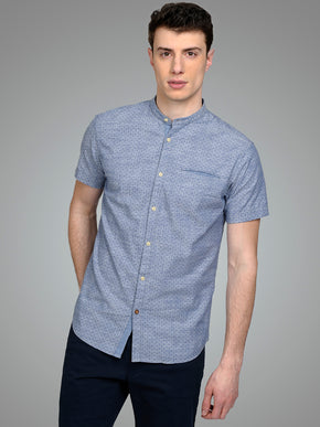 MANDARIN COLLAR ORIGINALS SHORT SLEEVE SHIRT