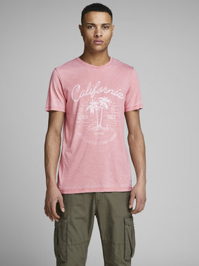 WASHED STYLE SUMMER PRINT T-SHIRT