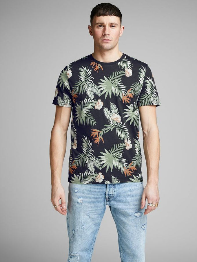 ORIGINALS TROPICAL PRINT T-SHIRT Total Eclipse