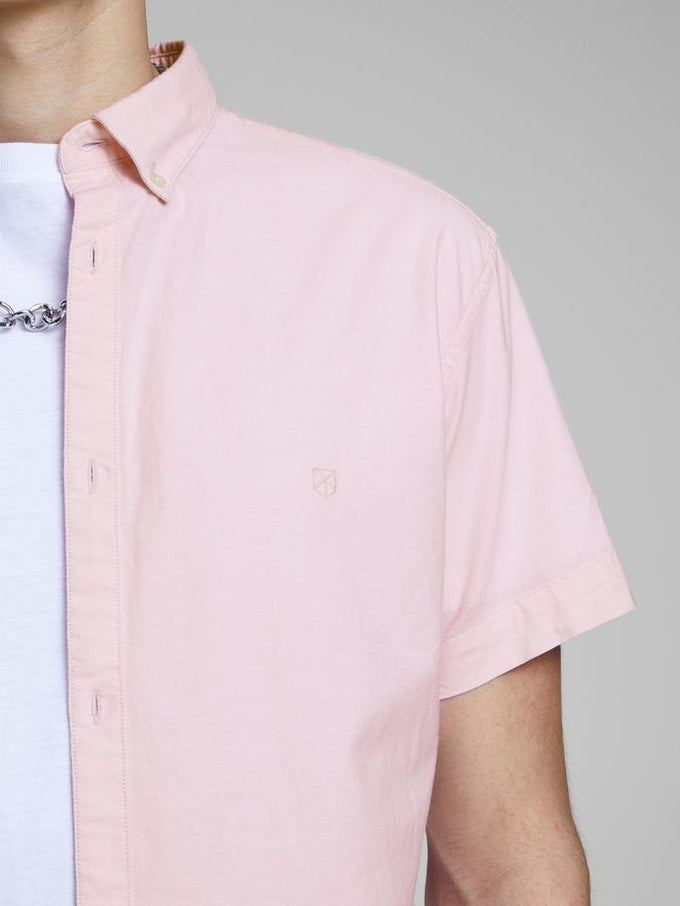 PREMIUM SLIM FIT SHORT SLEEVE SHIRT Prism Pink