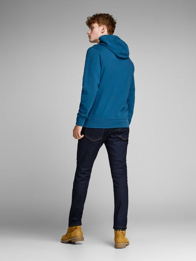 e5f84b3f CORE HOODIE WITH RUBBER DETAILS Blue Coral