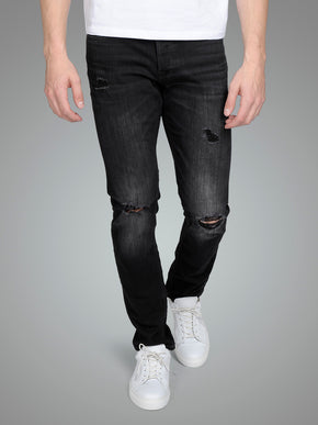SLIM FIT GLENN 818 JEANS WITH USED DETAILS