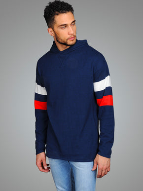 KNIT HOODIE WITH STRIPES