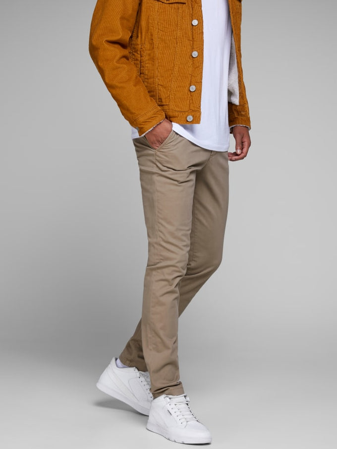 MARCO BOWIE SLIM FIT CHINO PANTS Beige