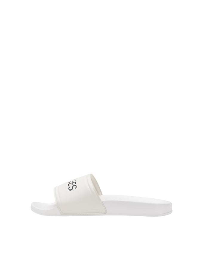 JACK & JONES WHITE POOL SLIDERS White