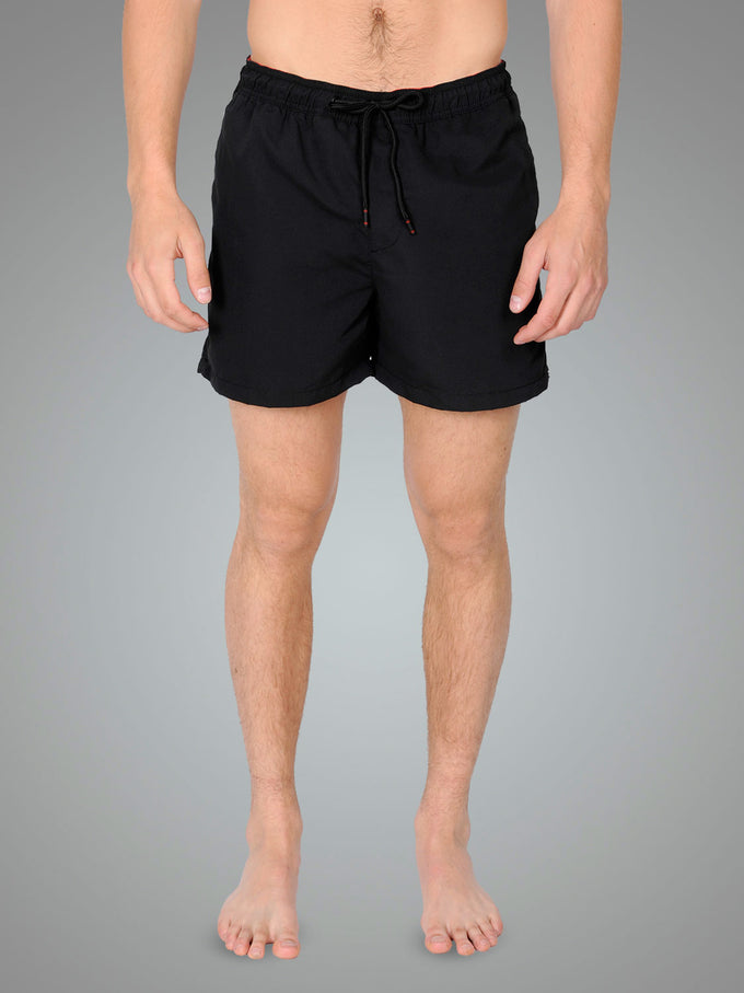 SWIM SHORTS WITH ZIPPED POCKETS Black