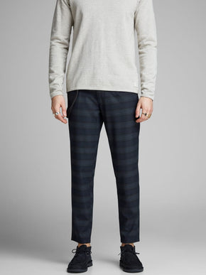 TAPERED FIT CHECKERED PANTS
