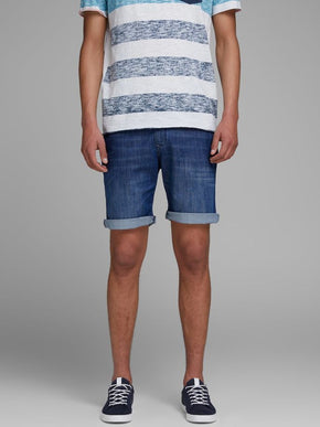 DENIM STYLE CHINO SHORTS
