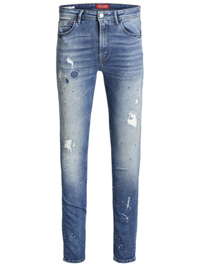 SKINNY FIT LIAM 912 JEANS WITH PAINT SPLATTERS