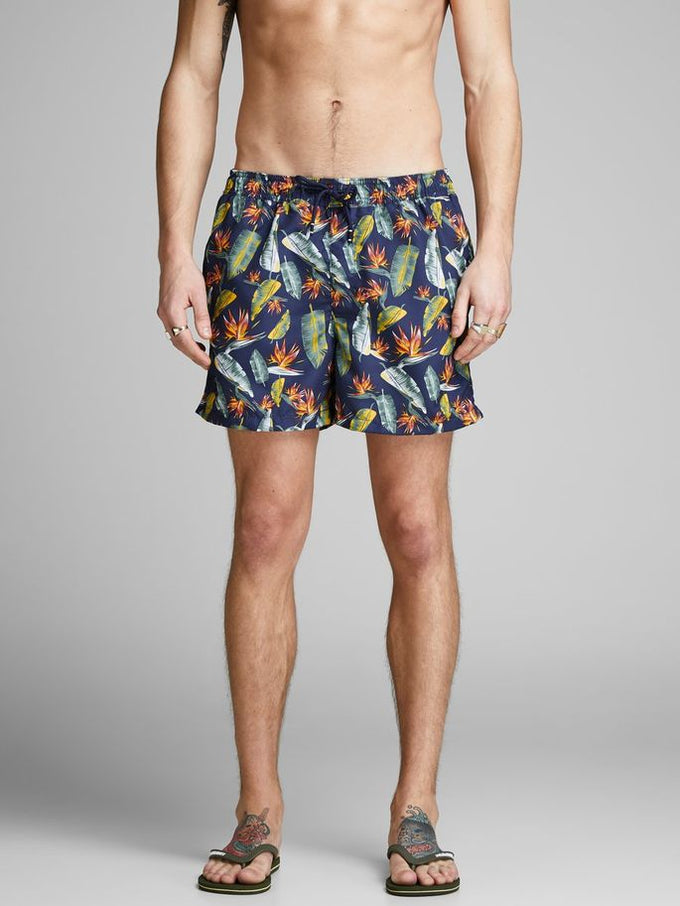 FLORAL SWIM SHORTS Blue Depths