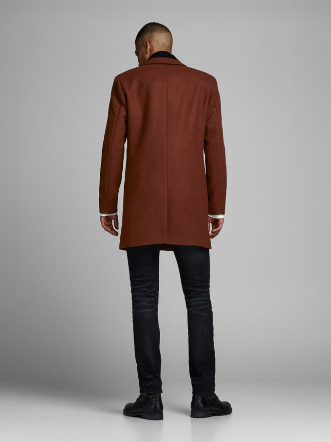 MOULDER WOOL COAT Cappuccino