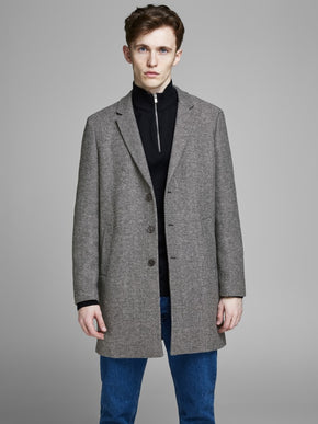 MOULDER WOOL COAT