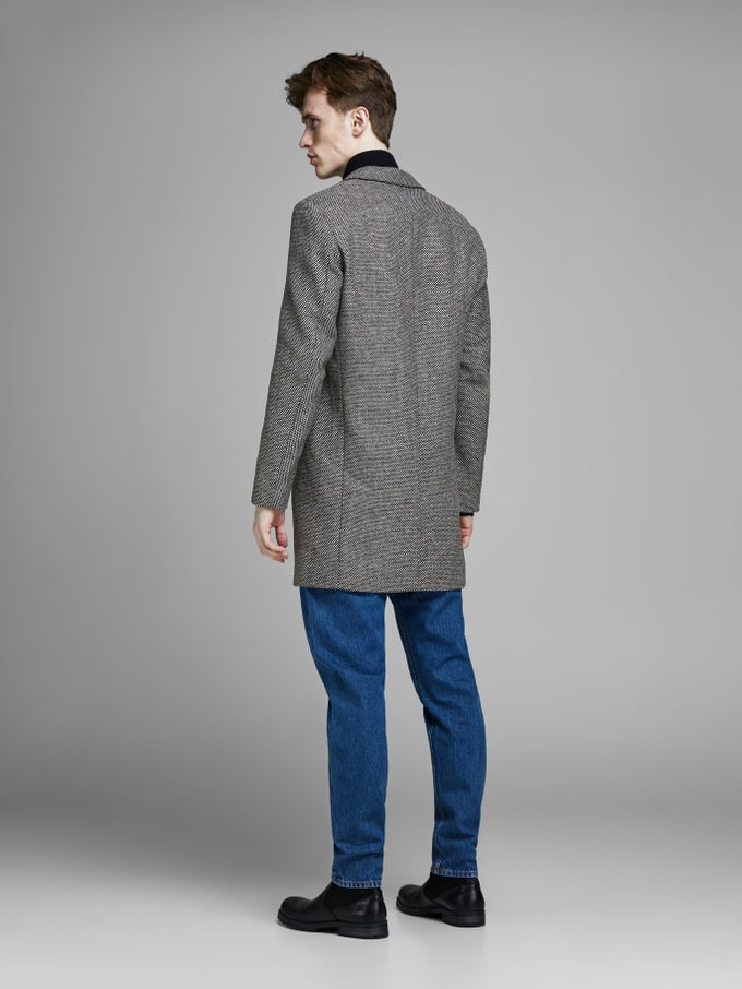 MOULDER WOOL COAT Dark Grey Melange