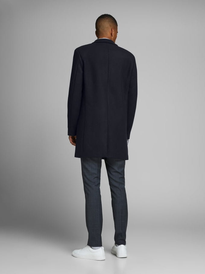 MOULDER WOOL COAT Dark Navy