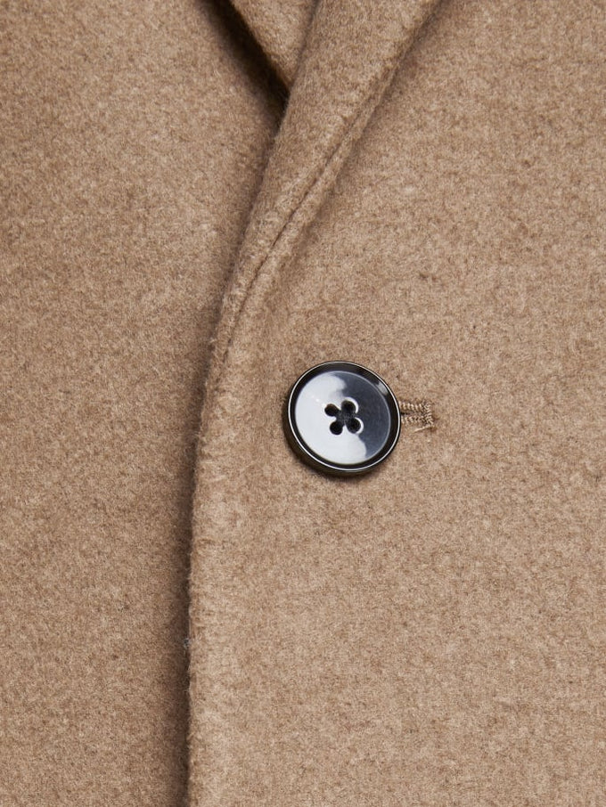 MOULDER WOOL COAT Khaki