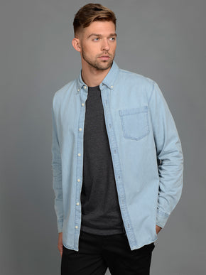 COMFORT FIT DENIM SHIRT
