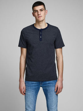 CORE HENLEY T-SHIRT WITH STRIPES