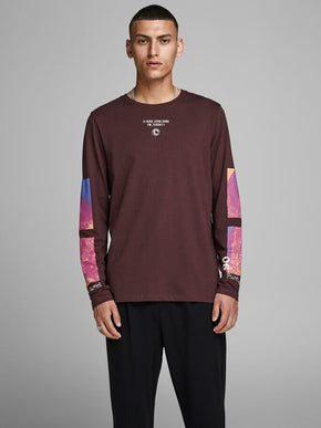 LONG SLEEVE T-SHIRT WITH MULTICOLOUR DETAILS