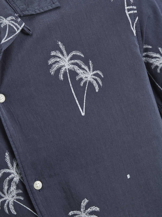 PALM PRINT SHORT SLEEVE SHIRT Total Eclipse