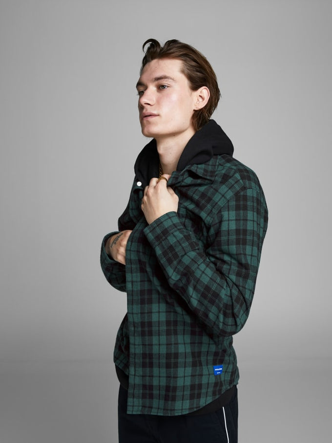 ORIGINALS CHECKERED FLANNEL SHIRT Sea Moss