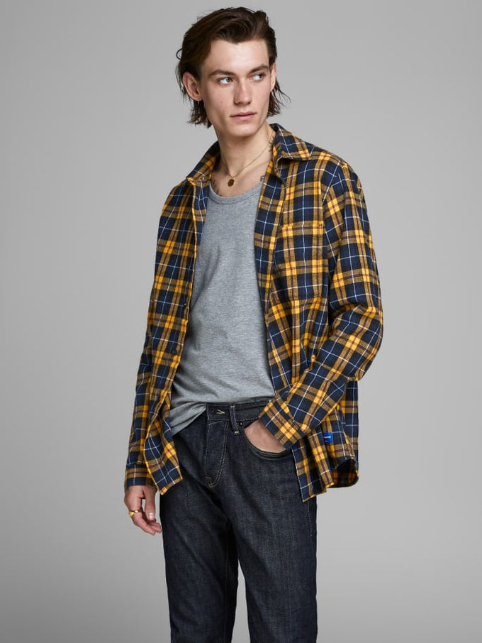 ORIGINALS CHECKERED FLANNEL SHIRT Sunflower