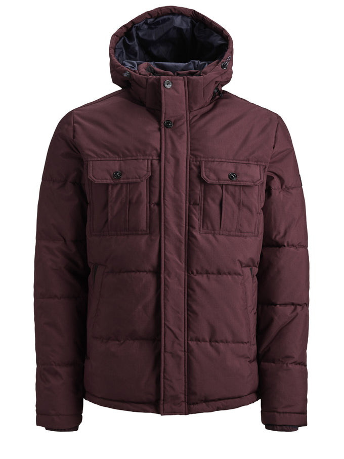 PADDED PUFFER JACKET WITH DETACHABLE HOOD Port Royale