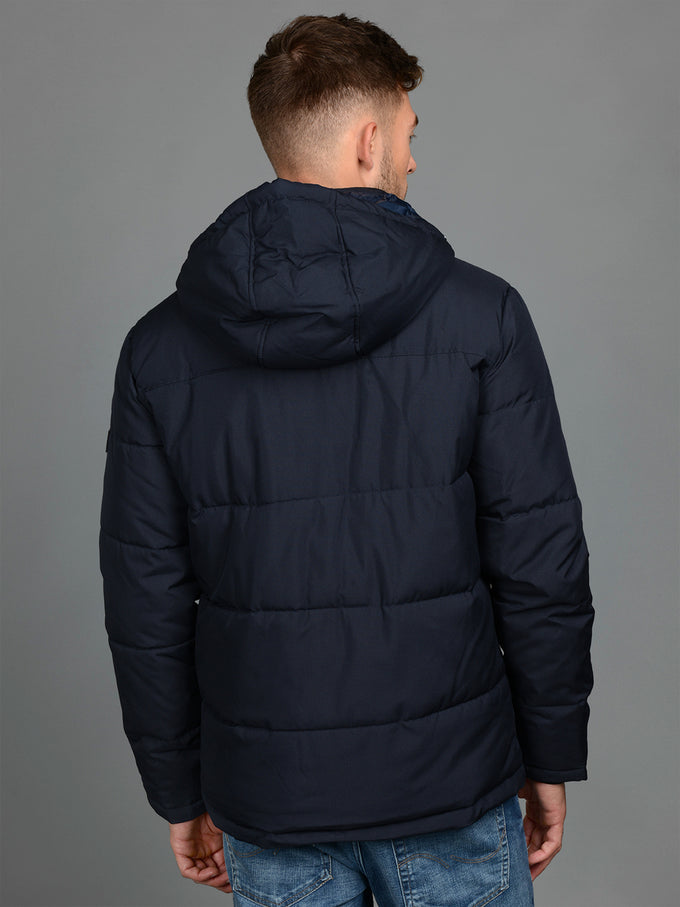 PADDED PUFFER JACKET WITH DETACHABLE HOOD Sky Captain