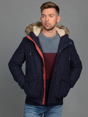 ORIGINALS JACKET WITH FAUX-FUR HOOD