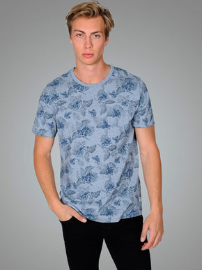 HEATHERED FLORAL PREMIUM T-SHIRT