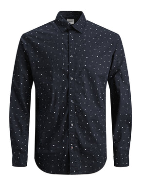 MICRO-PRINT SLIM FIT SHIRT