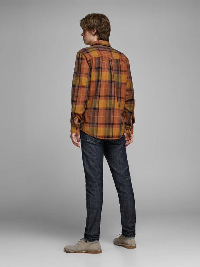 SPENCER CHECKED OVERSHIRT Burnt Orange
