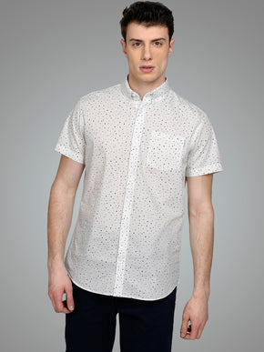 GEOMETRIC STYLE SHORT SLEEVE SHIRT