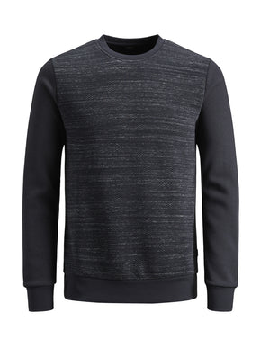 CORE CREWNECK WITH TEXTURED BODY