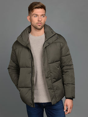 CORE PUFFER JACKET WITH CONTRAST DETAILS