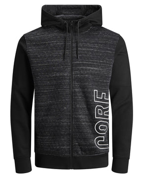 ZIP-UP QUILTED HOODIE
