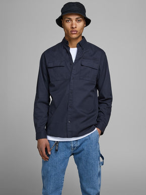 SLIM FIT WORKER STYLE OVERSHIRT