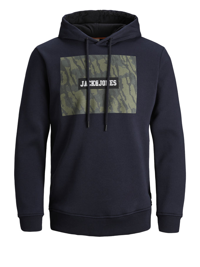 CORE HOODIE WITH CAMO DETAILS Sky Captain