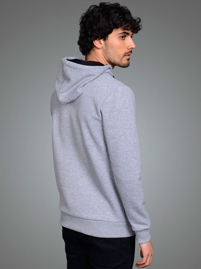 CORE HOODIE WITH CAMO DETAILS Light Grey Melange