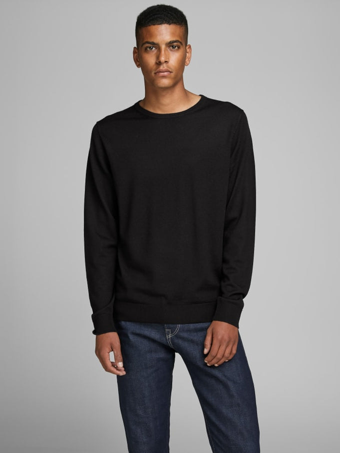 MARK MERINOS WOOL SWEATER Black