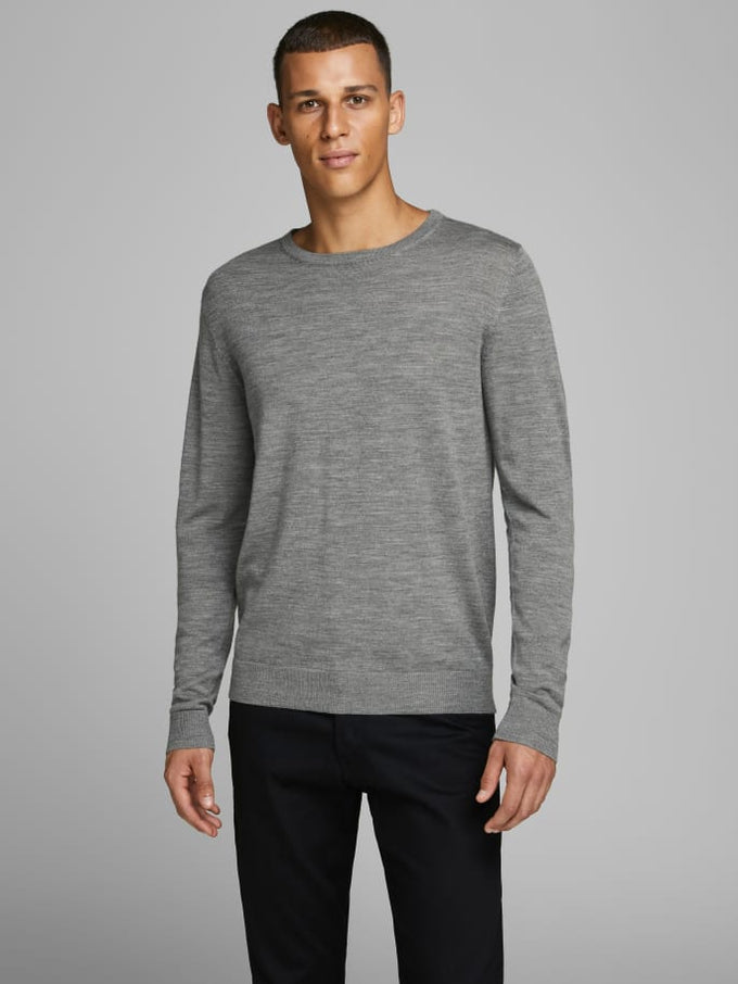 MARK MERINOS WOOL SWEATER Grey Melange