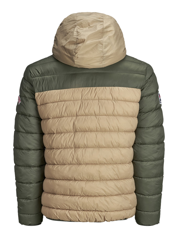 PUFFER JACKET WITH TEDDY LINING Tigers Eye